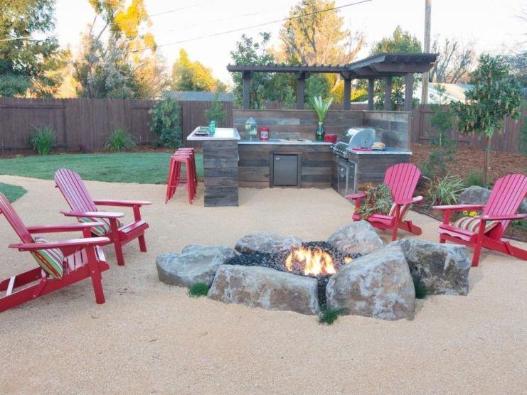 Cinder block furniture backyard 43