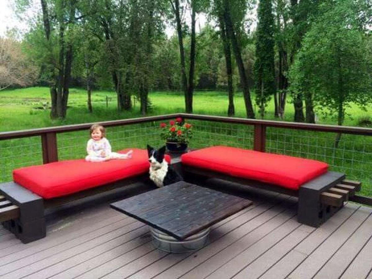 cinderblock furniture. Cinder Block Furniture Backyard 49 Cinderblock