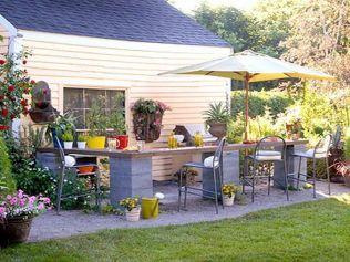 Cinder block furniture backyard 51