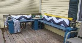 Cinder block furniture backyard 52