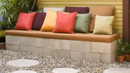 Cinder block furniture backyard 54
