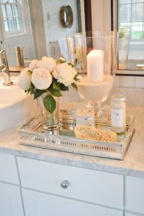 Cool bathroom counter organization ideas 19