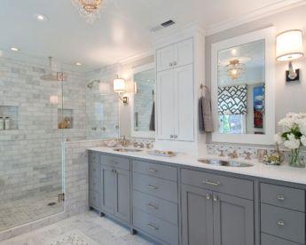 Cool bathroom counter organization ideas 31