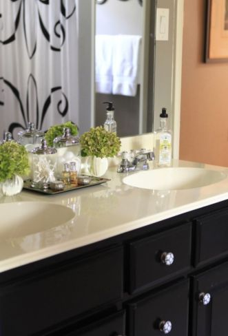 Cool bathroom counter organization ideas 43