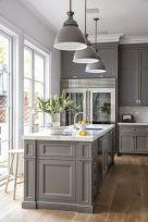Cool grey kitchen cabinet ideas 03