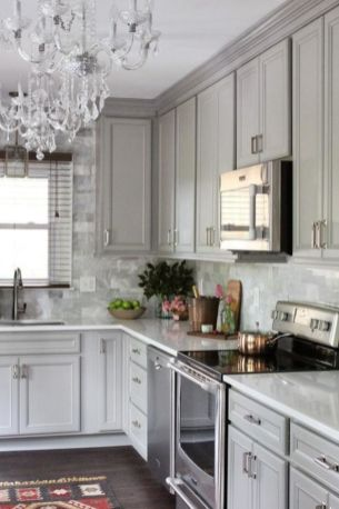 Cool grey kitchen cabinet ideas 06