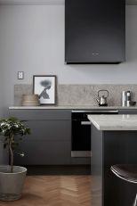 Cool grey kitchen cabinet ideas 17