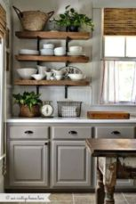 Cool grey kitchen cabinet ideas 30