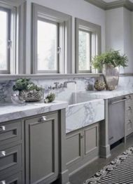Cool grey kitchen cabinet ideas 32