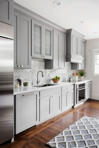 Cool grey kitchen cabinet ideas 33