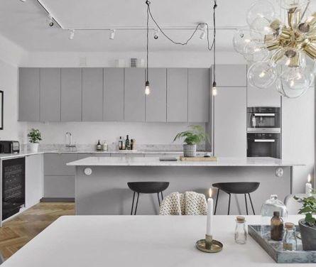 Cool grey kitchen cabinet ideas 35