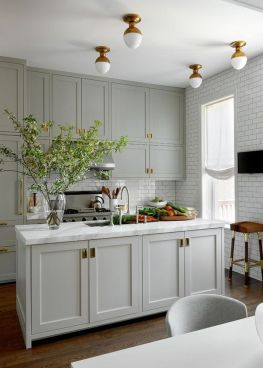 Cool grey kitchen cabinet ideas 39