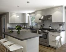 Cool grey kitchen cabinet ideas 42