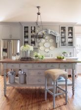 Cool grey kitchen cabinet ideas 57