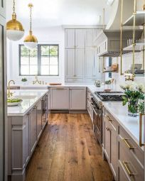 Cool grey kitchen cabinet ideas 58