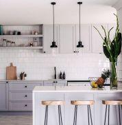 Cool grey kitchen cabinet ideas 66