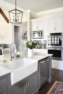 Cool grey kitchen cabinet ideas 67