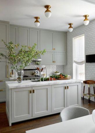 Cool grey kitchen cabinet ideas 80