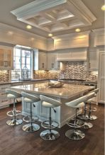 Cool kitchens design ideas with bay windows 02