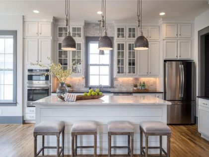 Cool kitchens design ideas with bay windows 06