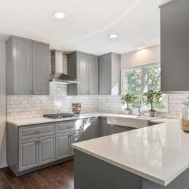 Cool kitchens design ideas with bay windows 29