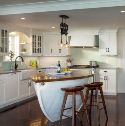 Cool kitchens design ideas with bay windows 45