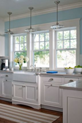 Cool kitchens design ideas with bay windows 60