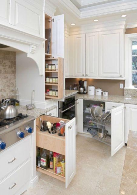 Corner kitchen cabinet storage 13