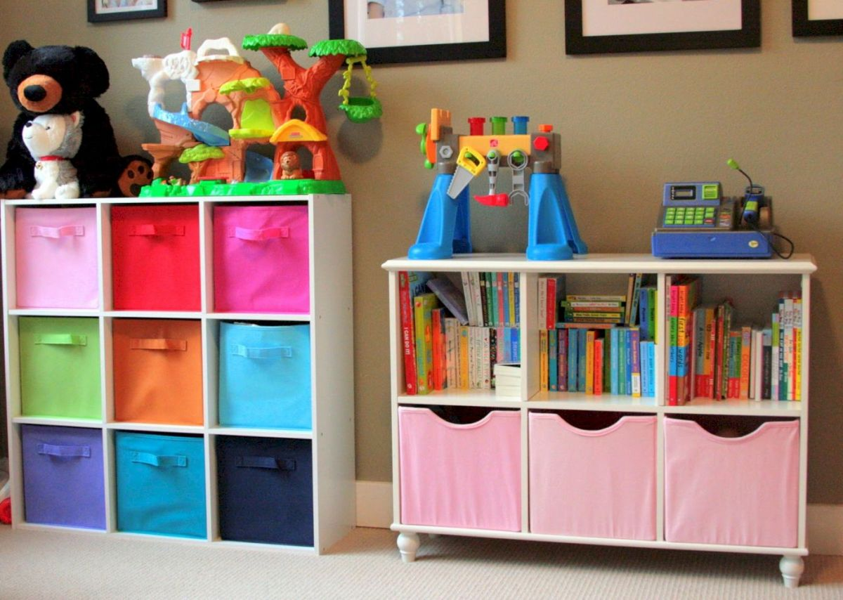 61 Creative Toy Storage Ideas for Living Room