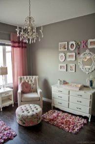 Cute bedroom design ideas with pink and green walls 02