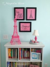 Cute bedroom design ideas with pink and green walls 11