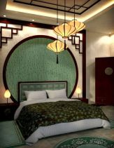 Cute bedroom design ideas with pink and green walls 18