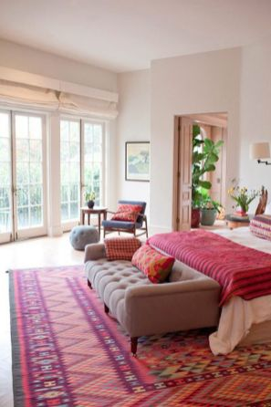 Cute bedroom design ideas with pink and green walls 58