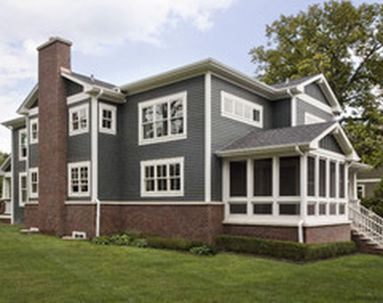 Exterior paint color ideas with red brick 21