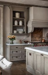 Gray color kitchen cabinets 03