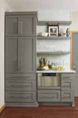 Gray color kitchen cabinets 14