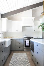 Gray color kitchen cabinets 24