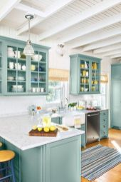 Gray color kitchen cabinets 38