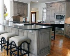 Gray color kitchen cabinets 48