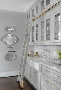 Gray color kitchen cabinets 49