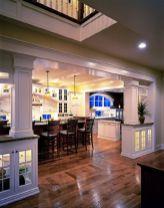 Half wall kitchen designs 25