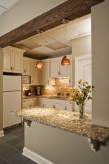 Half wall kitchen designs 35