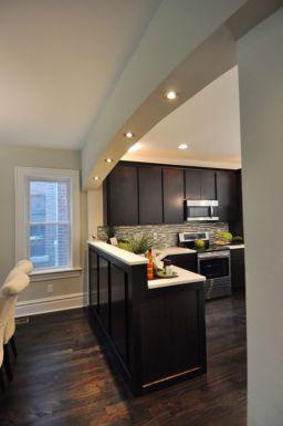 Half wall kitchen designs 46
