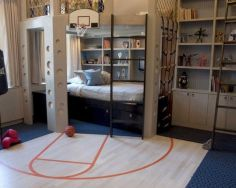 Inspiring bedroom design ideas for boy who loves basketball 02