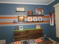 Inspiring bedroom design ideas for boy who loves basketball 17
