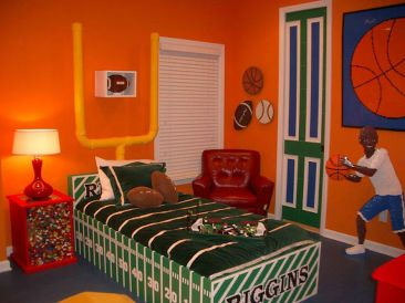 Inspiring bedroom design ideas for boy who loves basketball 37