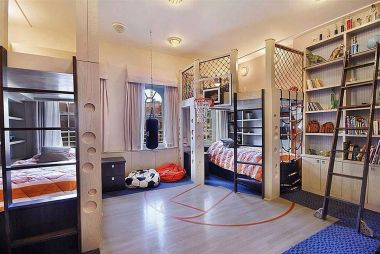 Inspiring bedroom design ideas for boy who loves basketball 59
