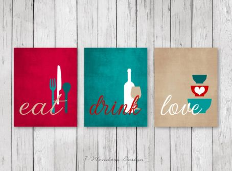 Inspiring kitchen wall art ideas 37