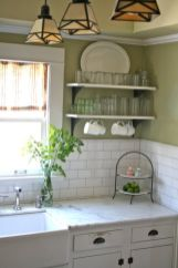 Kitchens design ideas with green walls 01
