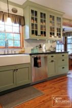 Kitchens design ideas with green walls 03